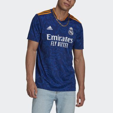 Maillot Extérieur Real Madrid 21/22 Bleu Hommes Soccer