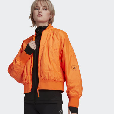 aSMC WOV BOMBER Orange Femmes adidas by Stella McCartney