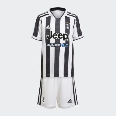 Kinder Fußball Juventus Turin 21/22 Mini-Heimausrüstung Weiß