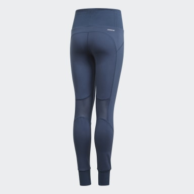 Youth Yoga Blue AEROREADY High-Rise Comfort Workout Yoga Tights