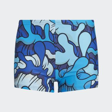 Boys Simning Blå Aaron Kai Primeblue Swim Briefs
