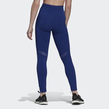Mallas adidas Sportswear Malla Corte Alto Azul Mujer Sportswear