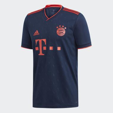 Camiseta Tercer Uniforme FC Bayern Azul Hombre Fútbol