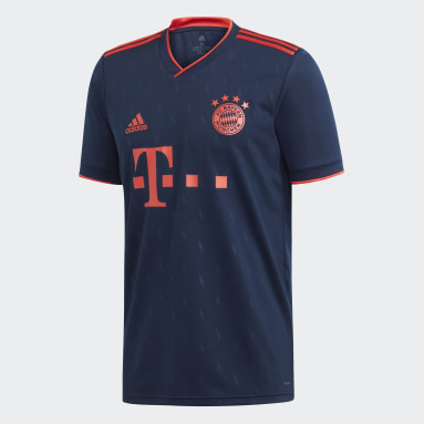 Jersey Tercer Uniforme FC Bayern Azul Hombre Fútbol