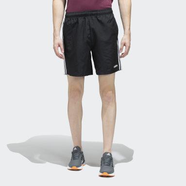 Men Sport Inspired Black 3-Stripes Chelsea Shorts