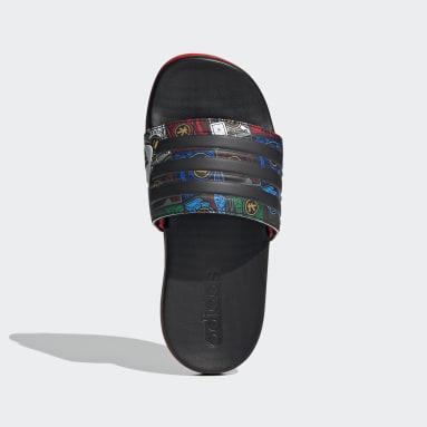 Children Yoga Black adidas Adilette Comfort x LEGO® Slides