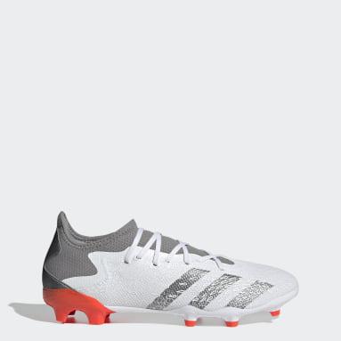 Zapatos de Fútbol Predator Freak.3 Terreno Firme Blanco Hombre Fútbol