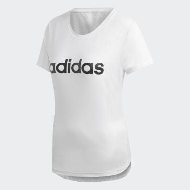 Kadın Training Beyaz Design 2 Move Logo Tişört