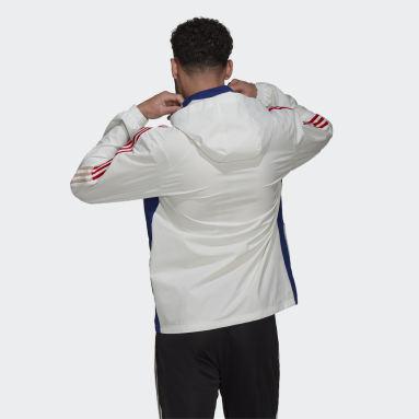 Männer Fußball Olympique Lyon Tiro All-Weather Jacke Weiß