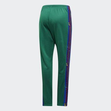 Pants Floral - Corte Alto Verde Mujer Originals