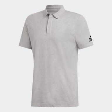 Erkek Sport Inspired Gri Must Haves Plain Polo Tişört