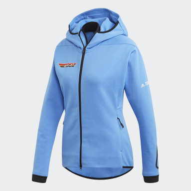 Women TERREX Blue Terrex DSV Polartec Power Air Fleece Jacket