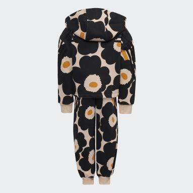 Girls Gym & Träning Rosa Marimekko Primegreen Warm-Up Winter Fleece 3-Stripes Floral Hoodie and Pants