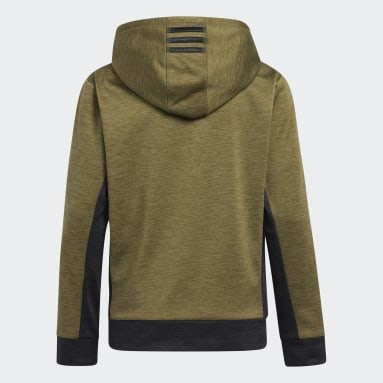 Youth Training Green Colorblocked Mélange Hoodie