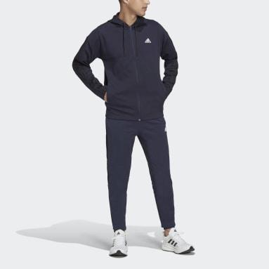 Mænd Sportswear Blå adidas Sportswear Ribbed Insert joggingdragt