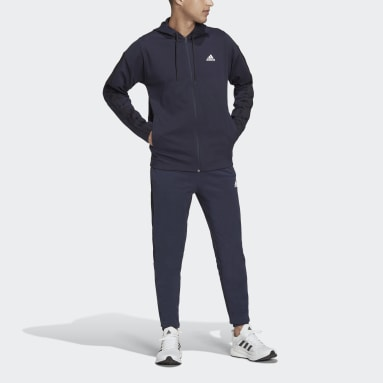 Tuta adidas Sportswear Ribbed Insert Blu Uomo Sportswear