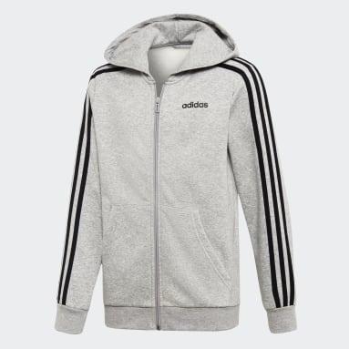 Børn Sportswear Grå Essentials 3-Stripes hættetrøje