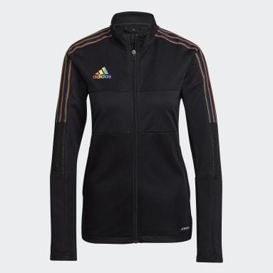 Women's Soccer Black Tiro Pride Track Jacket