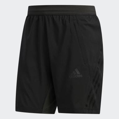 Men Yoga Black AEROREADY 3-Stripes 8-Inch Shorts