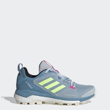 Women's TERREX Blue Terrex Skychaser GORE-TEX 2.0 Hiking Shoes