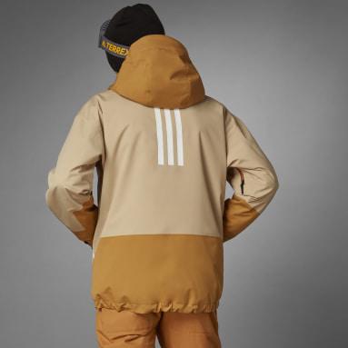 Mænd Vintersport Beige Terrex MYSHELTER Snow 2-Layer Insulated jakke