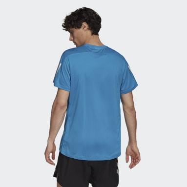 T-shirt Own the Run Turchese Uomo Running