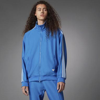 Heren Originals Blauw Blue Version Beckenbauer Trainingsjack