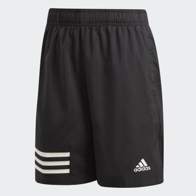 Jongens Fitness En Training Zwart 3-Stripes Short