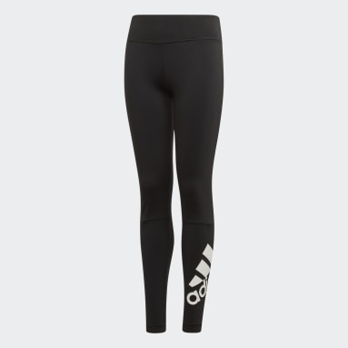 Girls Training Black Believe This Branded Tights