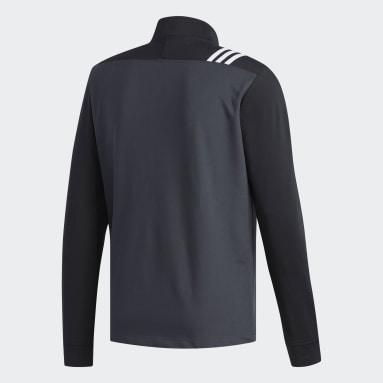Men Golf Grey 3-Stripes Core 1/4 Zip Sweatshirt