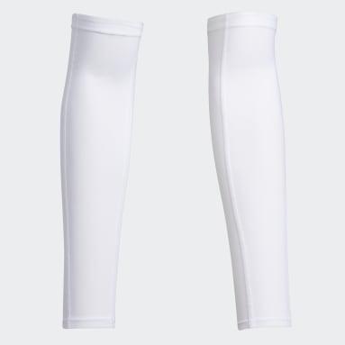 ผู้ชาย กอล์ฟ สีขาว ปลอกแขนกัน UV