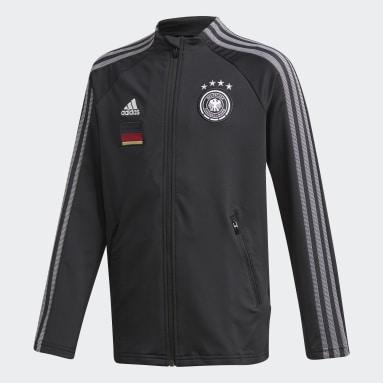 Kids Football Black Germany Anthem Jacket