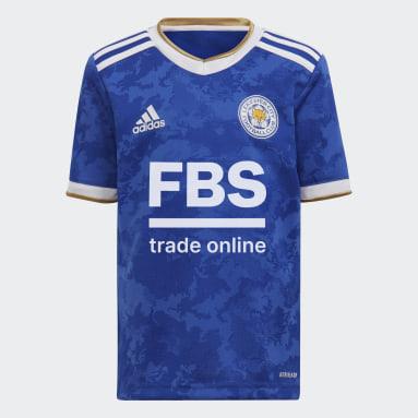 Kinder Fußball FC Leicester City Mini-Heimausrüstung Blau