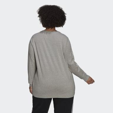 Women Originals Grey Adicolor Classics Long-Sleeve Top (Plus Size)
