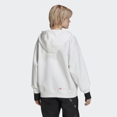 Women adidas by Stella McCartney White adidas by Stella McCartney SC Full Zip Hoodie