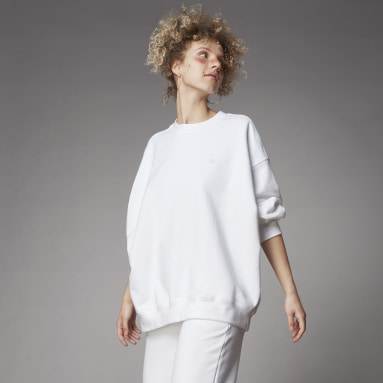 Women's Originals White Adicolor Oversized Sweatshirt