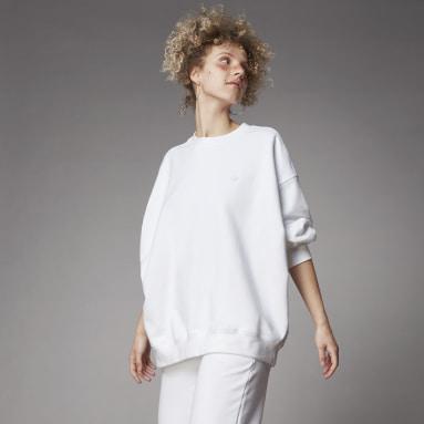 Felpa adicolor Oversized Bianco Donna Originals