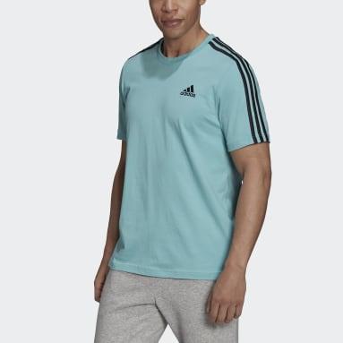 Camiseta Essentials 3 bandas Verde Hombre Sportswear