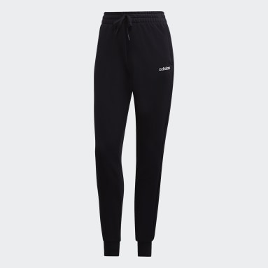 Women Gym & Training Black Essentials Solid Pants