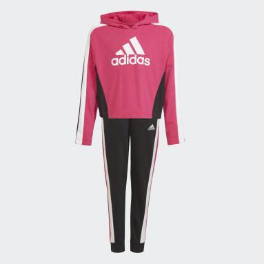 Dívky Cvičení A Trénink růžová Sportovní souprava Colorblock Crop Top