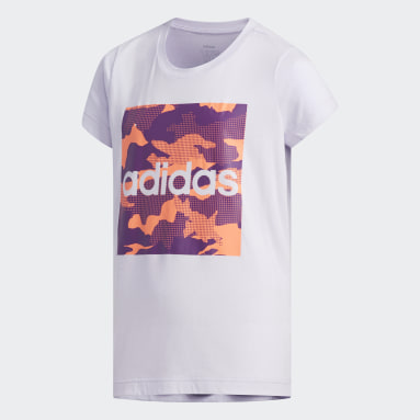 T-shirt Camouflage Pourpre Adolescents Essentials