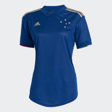 Camisa 1 Cruzeiro 21/22 Azul Mulher Futebol