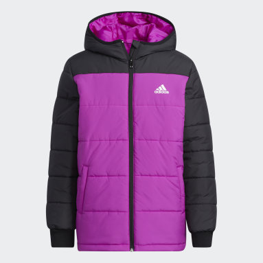 Kids Gym & Training Pink Padded Winter Jacket