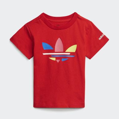 T-shirt adicolor Rosso Bambini Originals