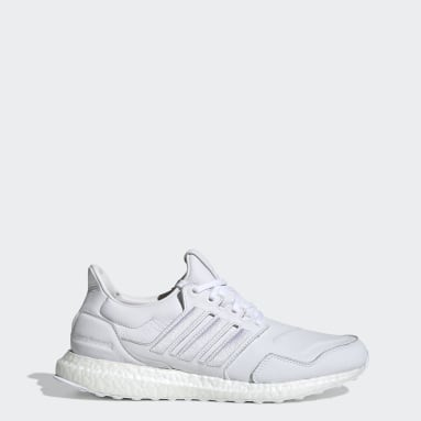 Running Ultraboost Leather Schuh Weiß