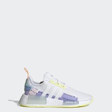 Kids Originals White NMD_R1 Refined Shoes