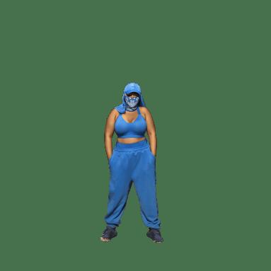 Brassière Medium-Support Cutout (Grandes tailles) Bleu Femmes Originals