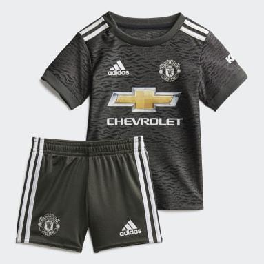 Kids Football Green Manchester United Away Baby Kit