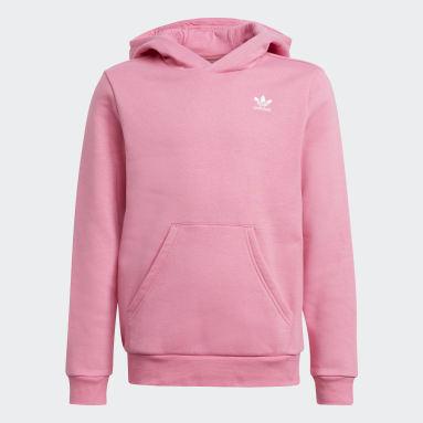 Youth Originals Pink Adicolor Hoodie
