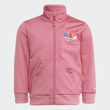 Kids 4-8 Years Originals Pink Adicolor Tracksuit